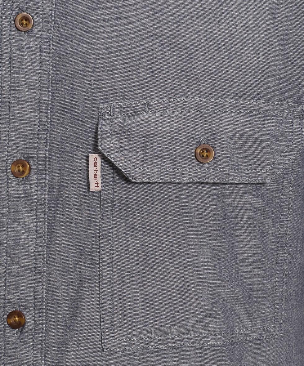Carhartt Fort Short Sleeve Work Shirt, Blue, hi-res