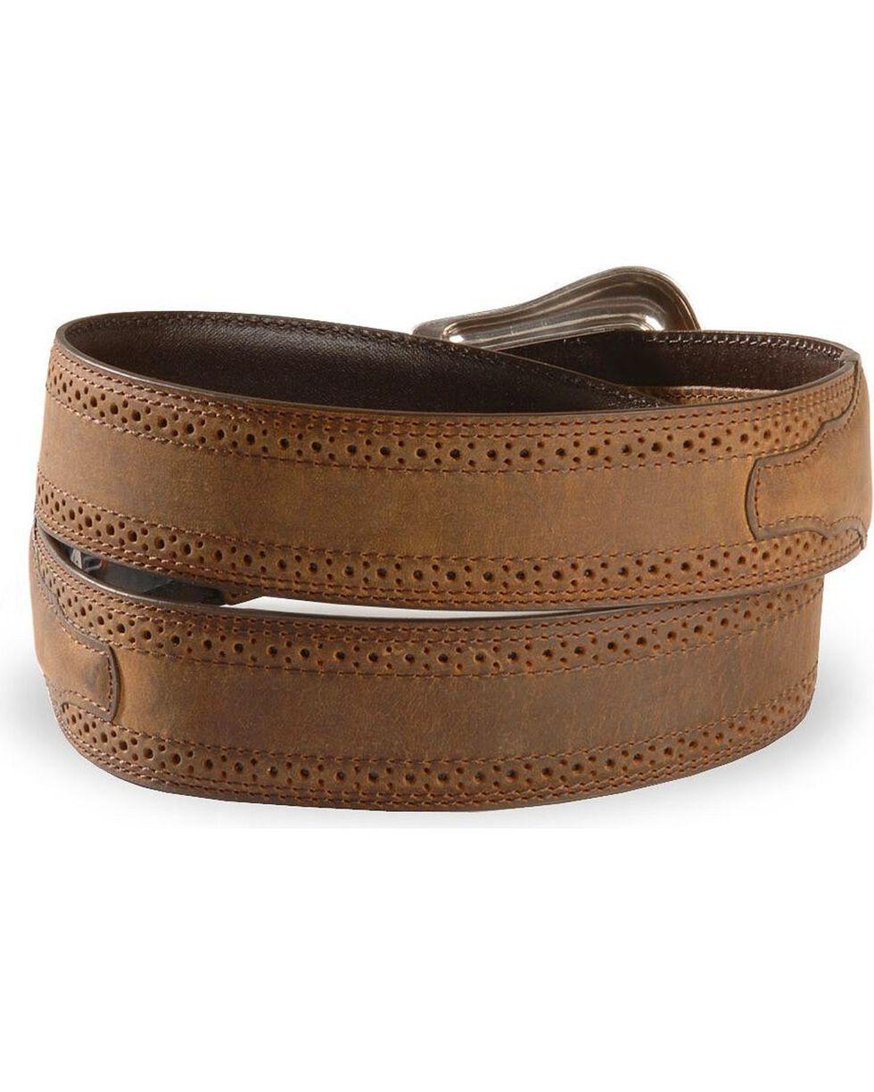Ariat Basic Western Leather Belt - Reg & Big, Distressed, hi-res