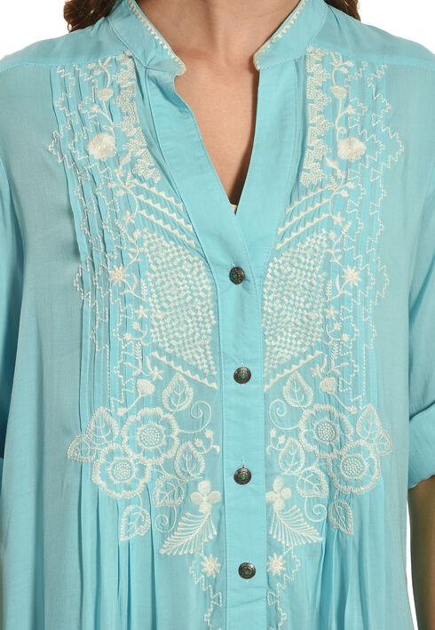 Tasha Polizzi Women's Blue Athena Print Shirt, Blue, hi-res