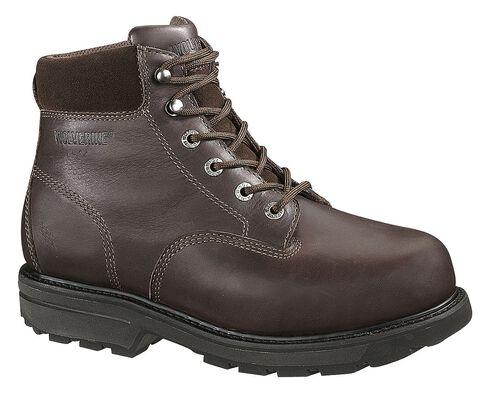 "Wolverine Cannonsburg 6"" Work Boots - Steel Toe, Brown, hi-res"