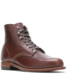 Wolverine Men's 1000 Mile Brown Lace-Up Boots - Round Toe, Brown, hi-res