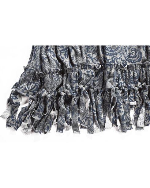 Shyanne Girls' Paisley Fringe Trim Dress, Navy, hi-res