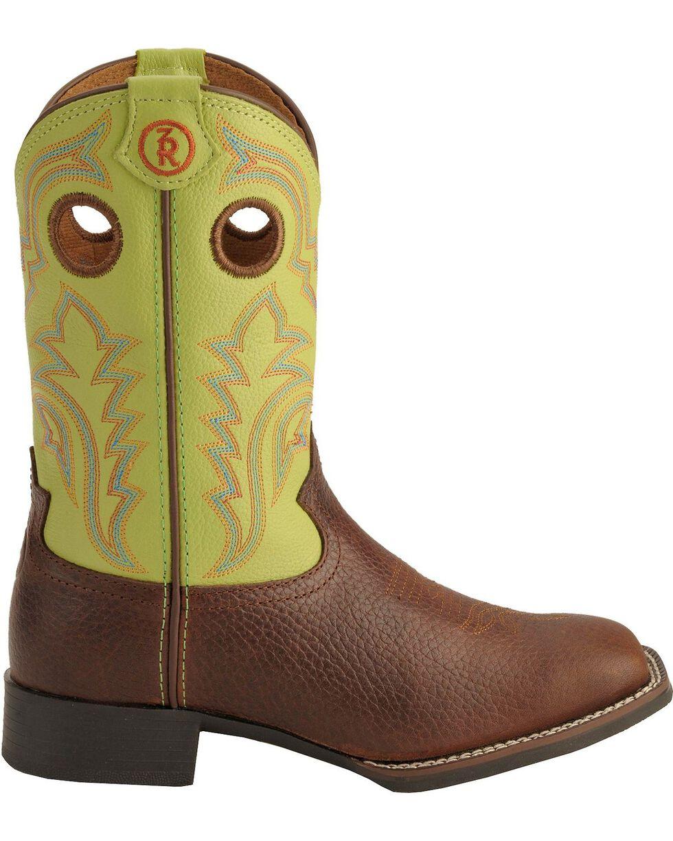 Tony Lama Boys' Tiny Lama 3R Cowboy Boots - Square Toe, Beige, hi-res