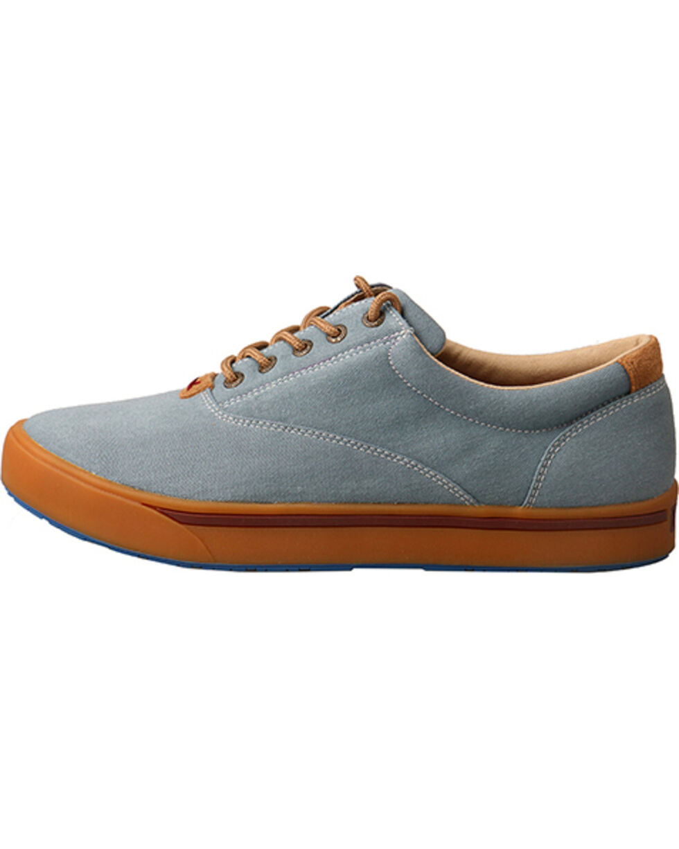 Hooey Lopers by Twisted X Men's Blue Canvas Shoes , Blue, hi-res
