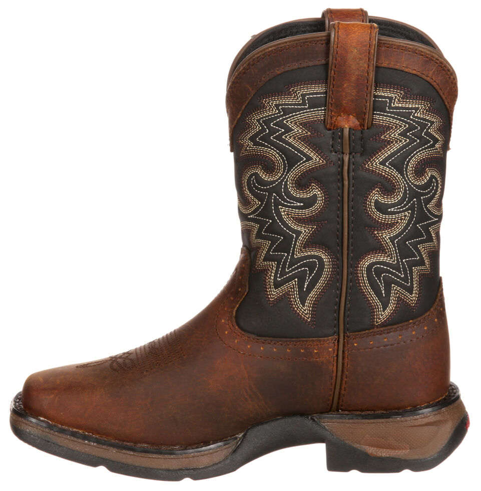 Durango Youth Boys' Western Boots - Square Toe, Tan, hi-res