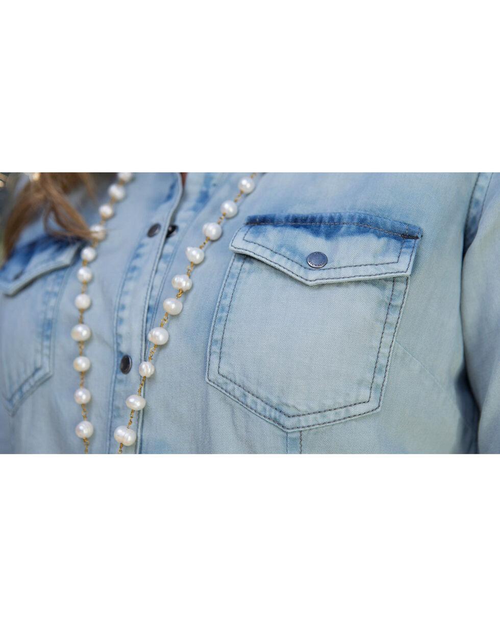 Ryan Michael Women's Light Blue Tinted Indigo Dress, Light/pastel Blue, hi-res