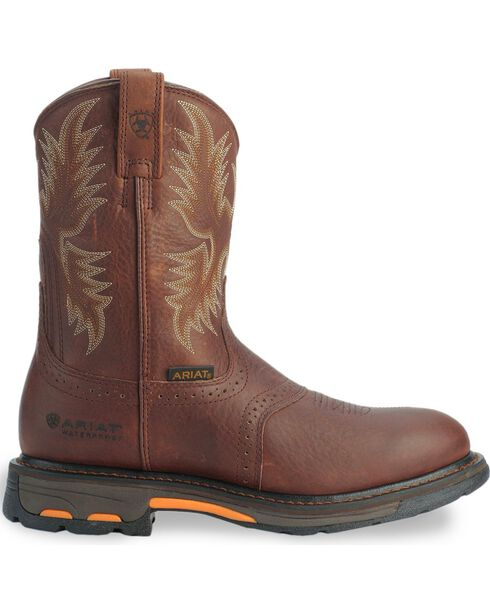 Ariat H2O Workhog Western Work Boots - Composition Toe, Copper, hi-res