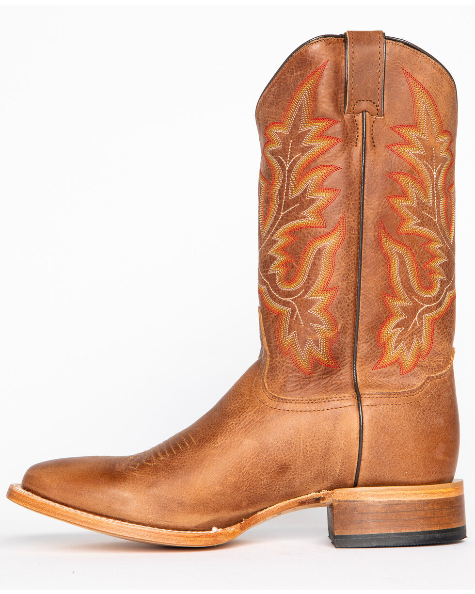 Cody James Men's Brown Stockman Cowboy Boots - Wide Square Toe, Brown, hi-res