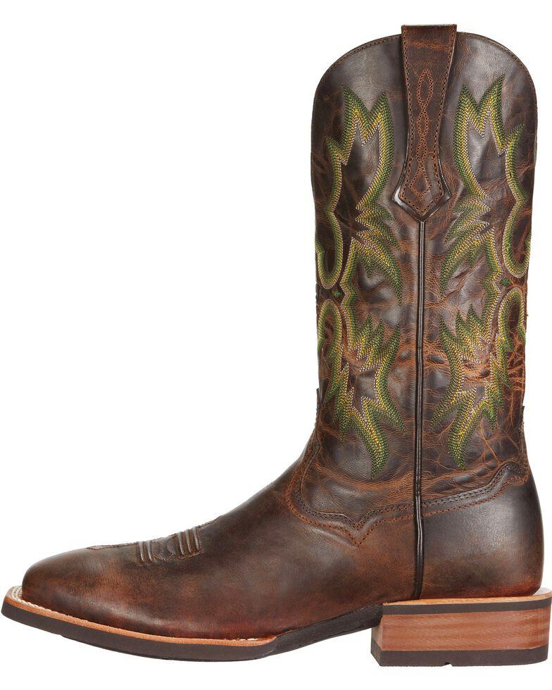 Ariat Tombstone Cowboy Boots - Square Toe, Chestnut, hi-res