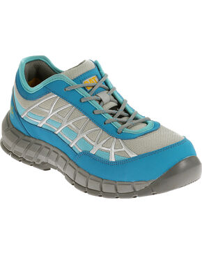 Caterpillar Women's Blue Connexion Work Shoes - Steel Toe , Blue, hi-res