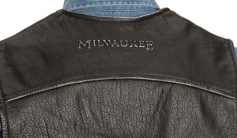 Interstate Leather Men's Side Laced Vest, Black, hi-res