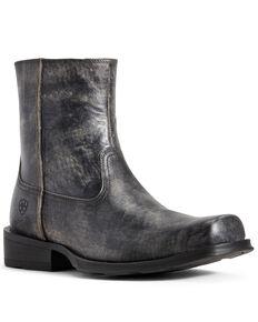 Ariat Men's Black Western Rambler Boots - Square Toe, Black, hi-res