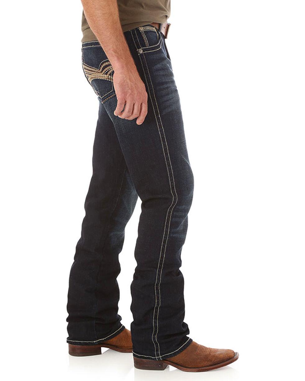 Wrangler Men's Indigo 20X No. 42 Vintage Stretch Jeans - Boot Cut , Indigo, hi-res