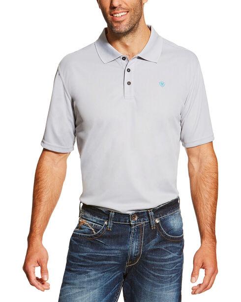 Ariat Men's Silver Tek Short Sleeve Polo , Silver, hi-res