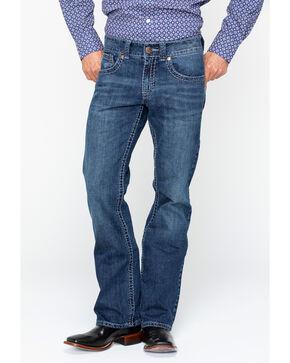 Rock 47 by Wrangler Men's Slim Boot Cut Jamboree Jeans , Blue, hi-res