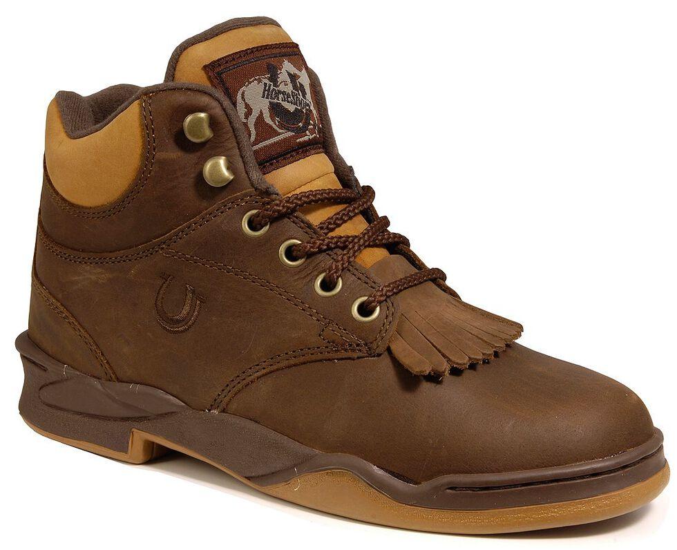 Roper Men's Horseshoe Kiltie Riding Boots, Tan, hi-res