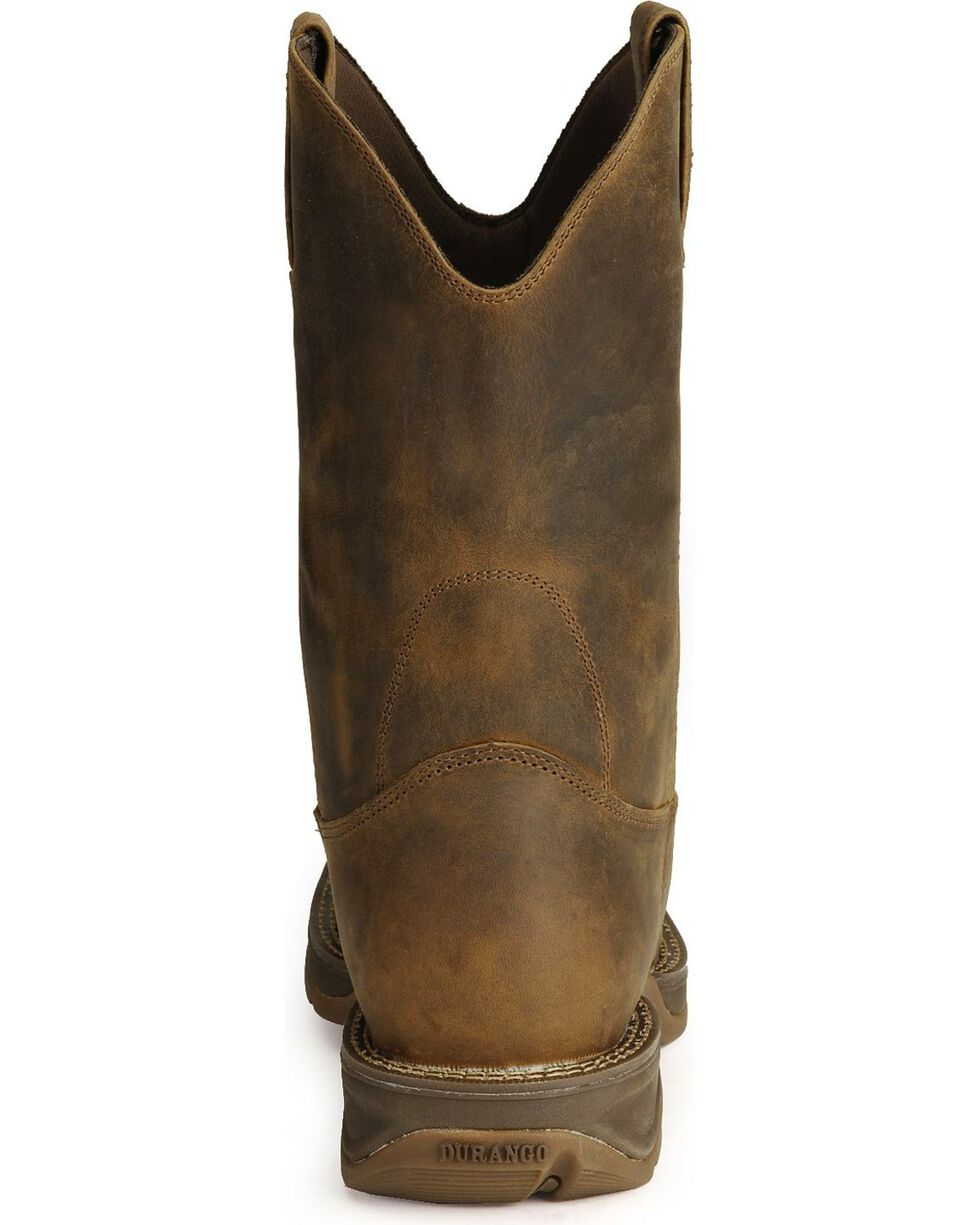 Durango Rebel Men's Pull-On Western Boots - Square Toe, Brown, hi-res