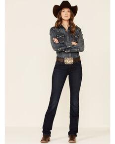 Wrangler Women's Willow Maggie Bootcut Riding Jeans, Dark Blue, hi-res