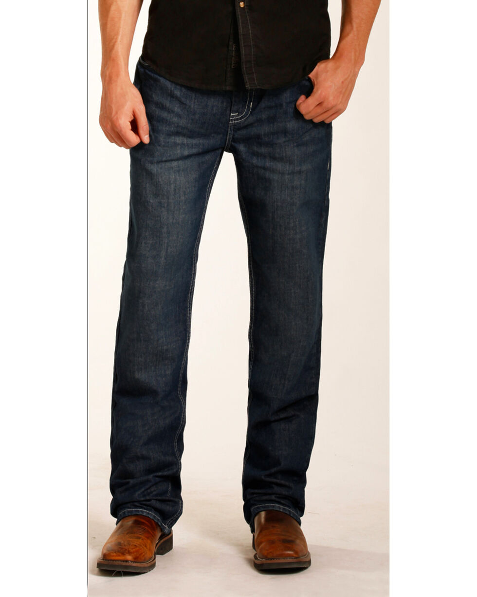 Rock & Roll Cowboy Men's Double Barrel Relaxed Fit Flame Resistant Jeans - Boot Cut, Blue, hi-res