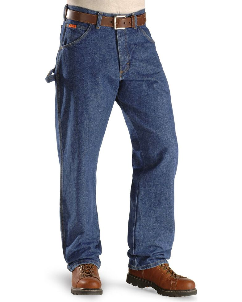 e21c7509 Zoomed Image Fire-Resistant Wrangler Riggs Jeans - Carpenter Relaxed Fit,  Indigo, hi-res