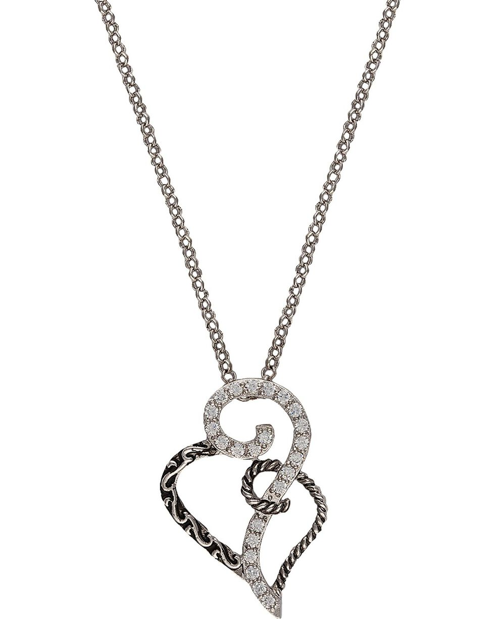 Montana Silversmiths Woven Hearts Necklace, Silver, hi-res