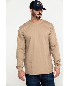 Cody James Men's FR Logo Long Sleeve Work T-Shirt - Tall, Beige/khaki, hi-res