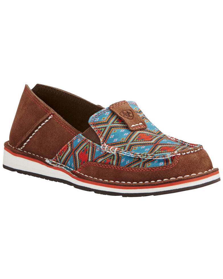 Ariat Women's Tan Aztec Cruiser Shoe - Moc Toe, , hi-res