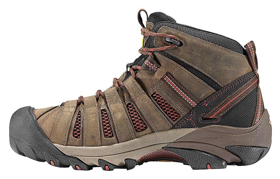 Keen Men's Flint Low Hiking Shoes - Steel Toe, Henna, hi-res