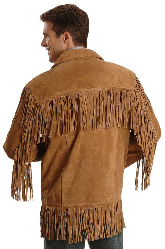 Liberty Wear Men's Suede Fringe Western Jacket - Big & Tall - 2XL, 3XL, Tobacco, hi-res