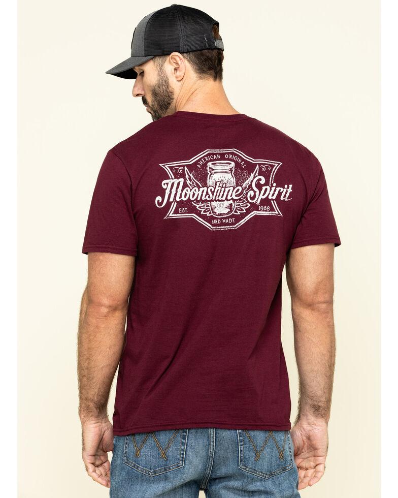 Moonshine Spirit Men's Shine Label Graphic T-Shirt , Maroon, hi-res