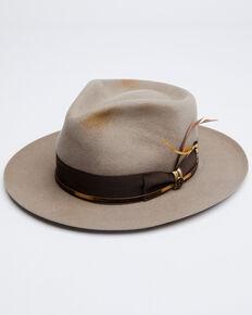 Biltmore Tan Slicker Teardrop Shantung Woven Western Fedora Hat , Tan, hi-res