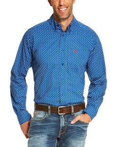 Ariat Men's Blue Rico Print Long Sleeve Western Shirt , Blue, hi-res