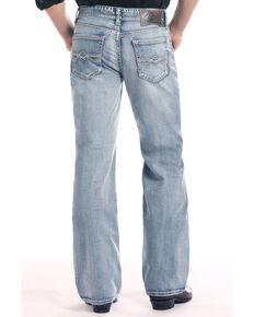 Rock & Roll Cowboy Men's Cannon Light Loose Bootcut Jeans , Light Blue, hi-res