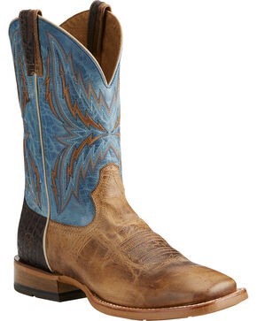 Ariat Men's Arena Rebound Cowboy Boots - Square Toe, Tan, hi-res