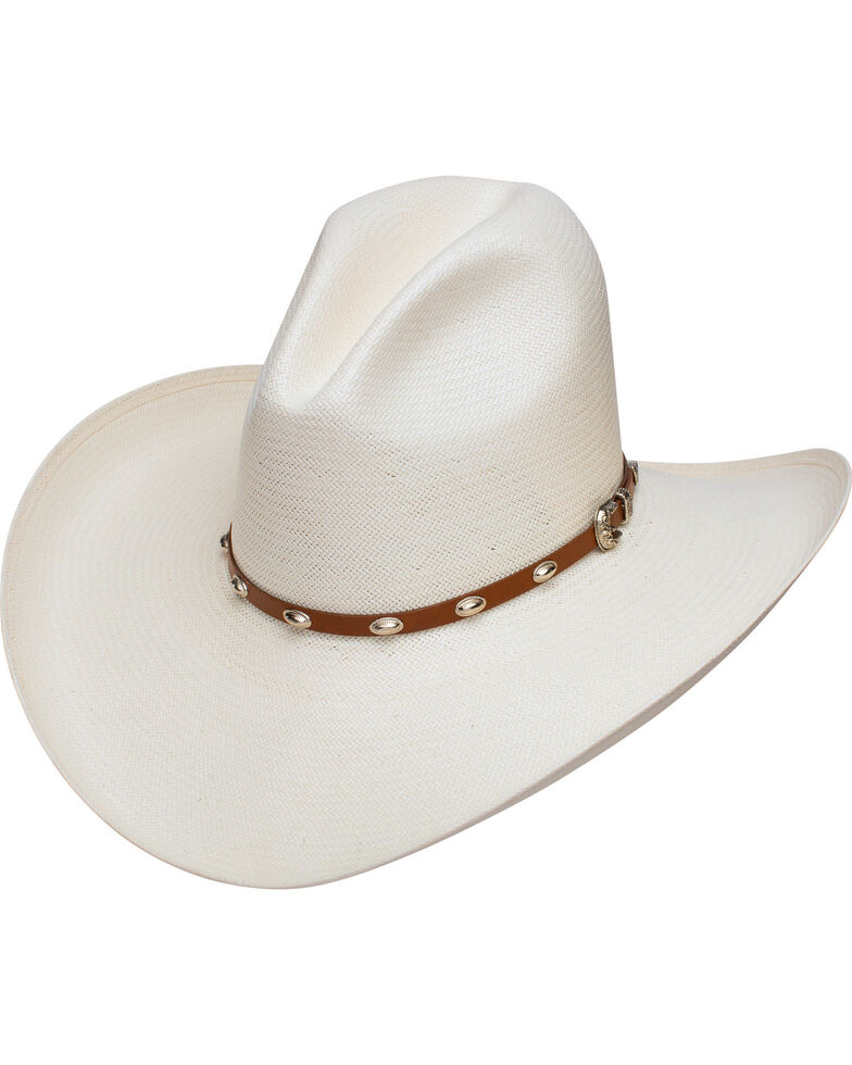Stetson Men's Rolling Hills 10X Straw Cowboy Hat, Natural, hi-res
