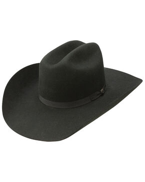 Resistol Men's Hooey Maverick 4x Wool Felt Cowboy Hat, Black, hi-res