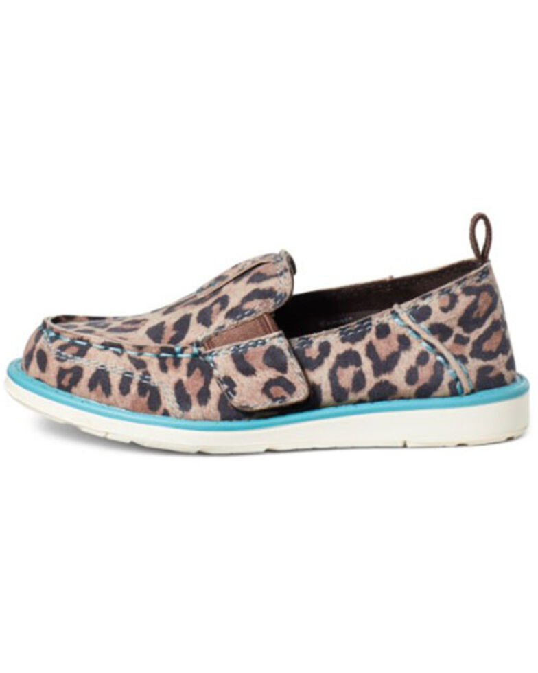 Ariat Girls' Cheetah Cruiser Shoes - Moc Toe, Brown, hi-res
