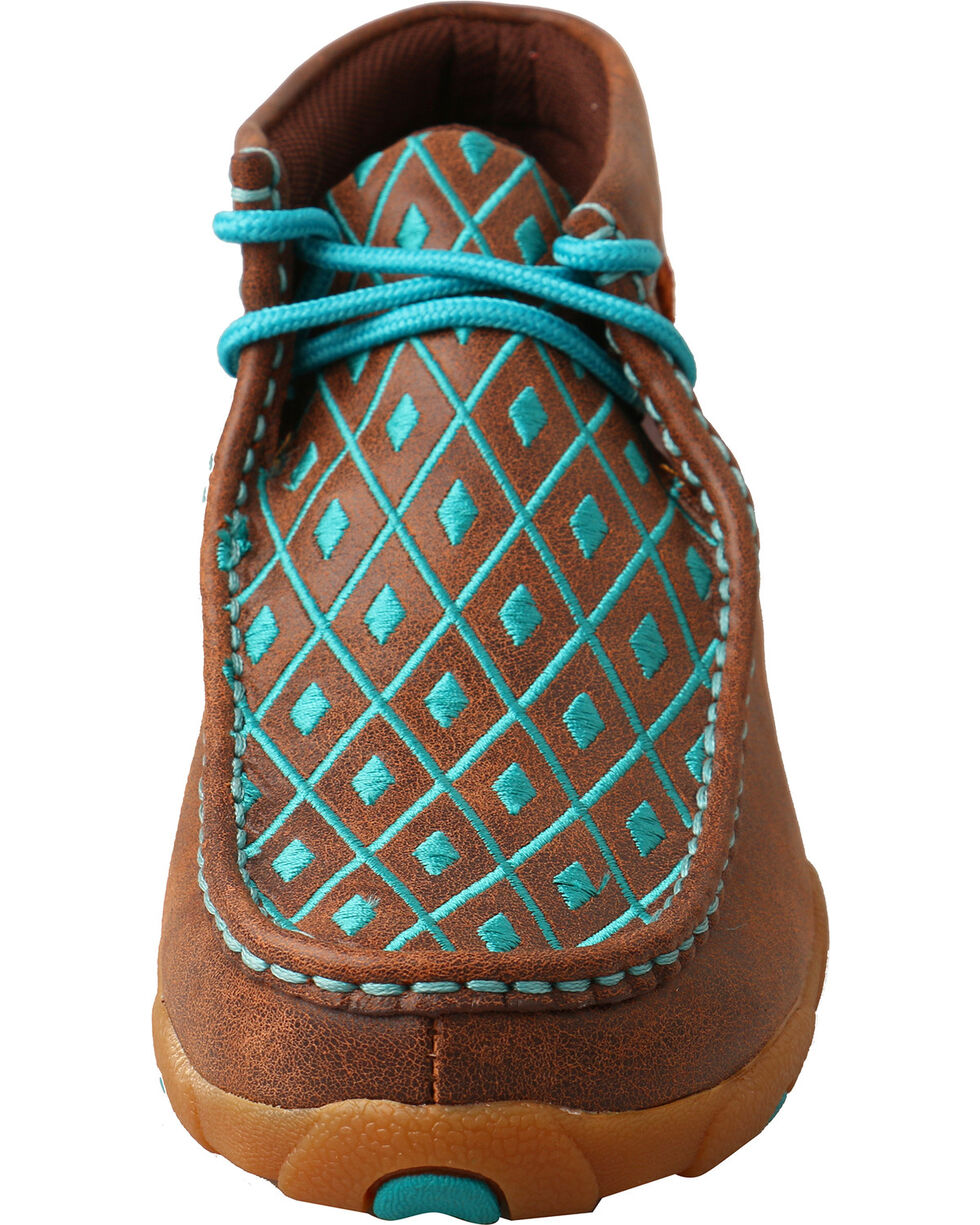 Twisted X Women's Turquoise Diamond Driving Mocs - Moc Toe, Multi, hi-res