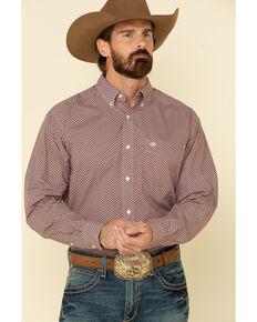 Ariat Men's Kelso Geo Print Long Sleeve Western Shirt - Tall , Black, hi-res