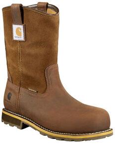 Carhartt Men's Waterproof Western Work Boots - Soft Toe, Chestnut, hi-res