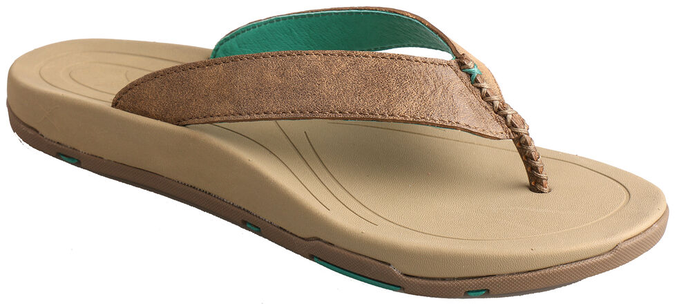Twisted X Women's Bomber Brown Sandals, Bomber, hi-res