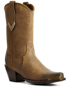 Ariat Women's Shayla Sepia Western Boots - Snip Toe, Brown, hi-res