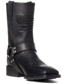 Ariat Men's Harness Patriot Western Boots - Square Toe, Black, hi-res