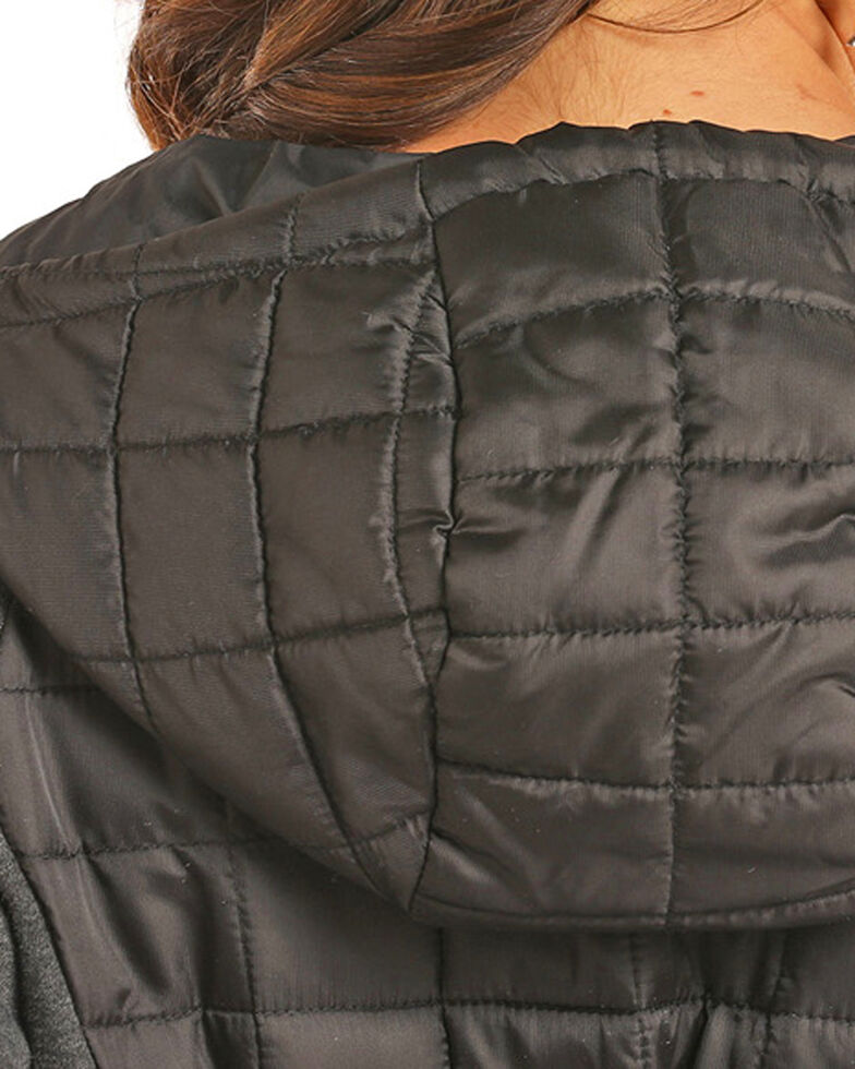 75f07b0feb41 Zoomed Image Powder River Women's Black Mixed Media Quilted Jacket , Black,  hi-res