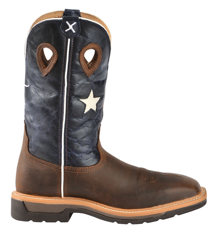9037040d118 Twisted X Lite Texas Flag Pull-On Work Boots - Square Toe
