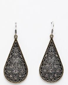 Shyanne Women's Summer Escape Fancy Narrow Filigree Teardrop Earrings, Silver, hi-res