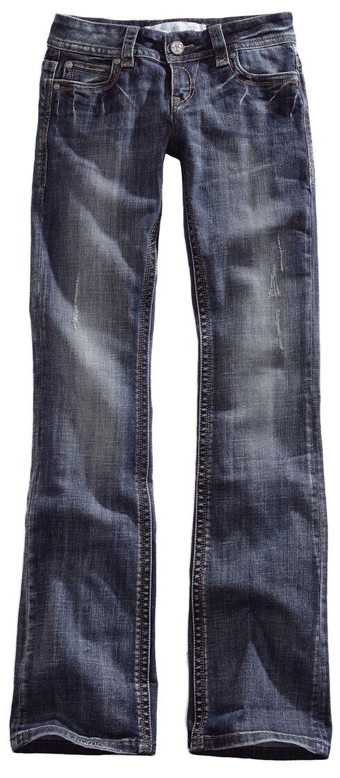 Tin Haul Women's Dolly Celebrity Embossed Logo Bootcut Jeans, Denim, hi-res