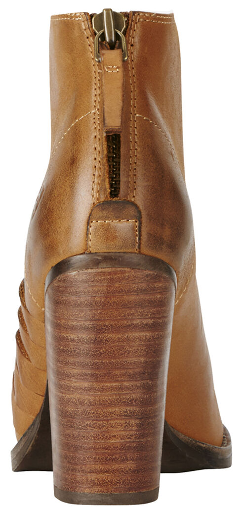 Ariat Women's Tan Lindsley Open Toe Bootie, Tan, hi-res
