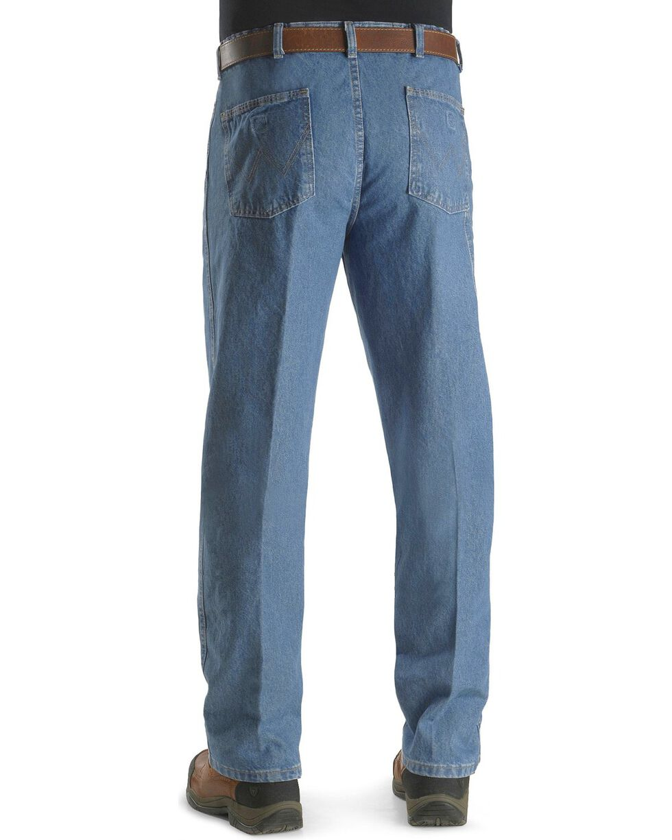 """Wrangler Jeans - Rugged Wear Relaxed Fit Angler Pants - Big 44"""" to 60"""" Waist, Indigo, hi-res"""