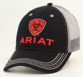 Ariat Rumblin Mesh Cap, Black, hi-res